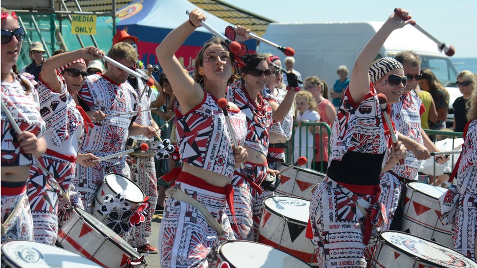 woman drummer in batala ny
